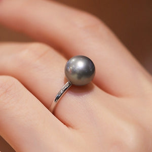 Black-Tahitian-South-Sea-Cultured-Pearl-Women-Engagement-Ring-With-Diamond