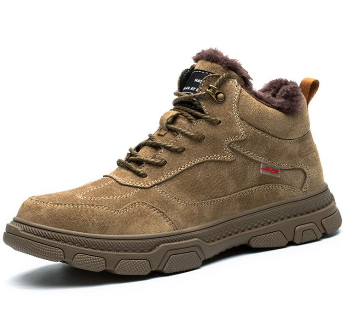 Cotton shoes wear-resistant, anti-slip safety shoes for construction sites - Beccaskulture