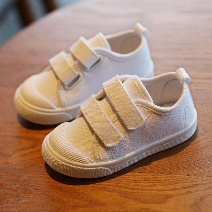 White Kids Canvas Shoes For Girls And Boys Kids - Beccaskulture
