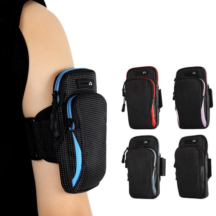 6.5 Inches Sports Bag Armband Case Gym Fitness Running Arm Band Bag Cover Jogging Workout Pouch for Mobile Phone, Key, Money, Card - Beccaskulture