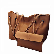Load image into Gallery viewer, Soft Leather Women Bag Set Female Shoulder Bags - Beccaskulture