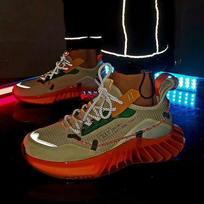 New Men Blade Shoes Casual Sneakers Men Soft High Quality Reflective Shoes - Beccaskulture
