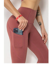 Load image into Gallery viewer, High Waist Yoga Pants with Pocket Naked Feeling Squat Proof Tights - Beccaskulture