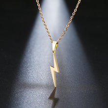Load image into Gallery viewer, Stainless Steel Lightning Bolt Necklace Pendant for Women  Men Scar Necklace - Beccaskulture
