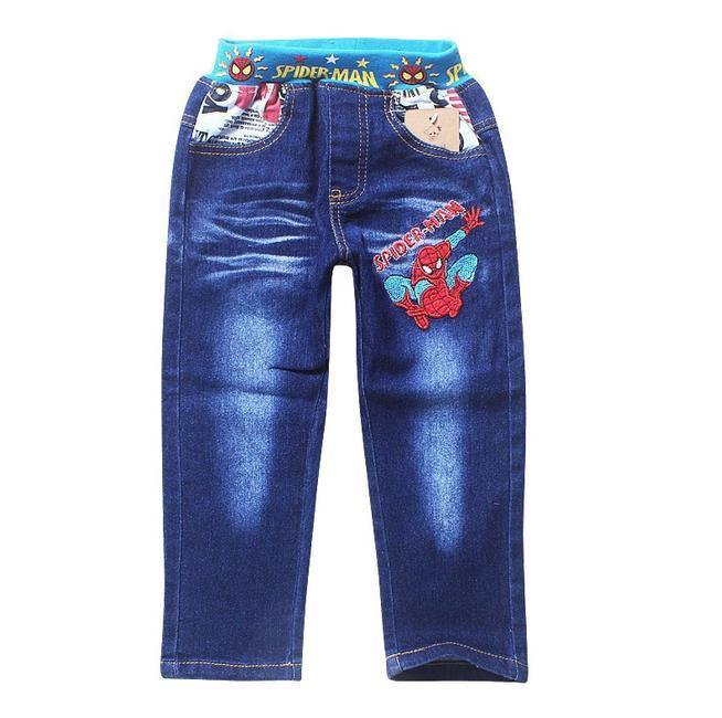 Boys Jeans Children Spiderman Denim Pants for Kids Clothing Casual Trousers - Beccaskulture