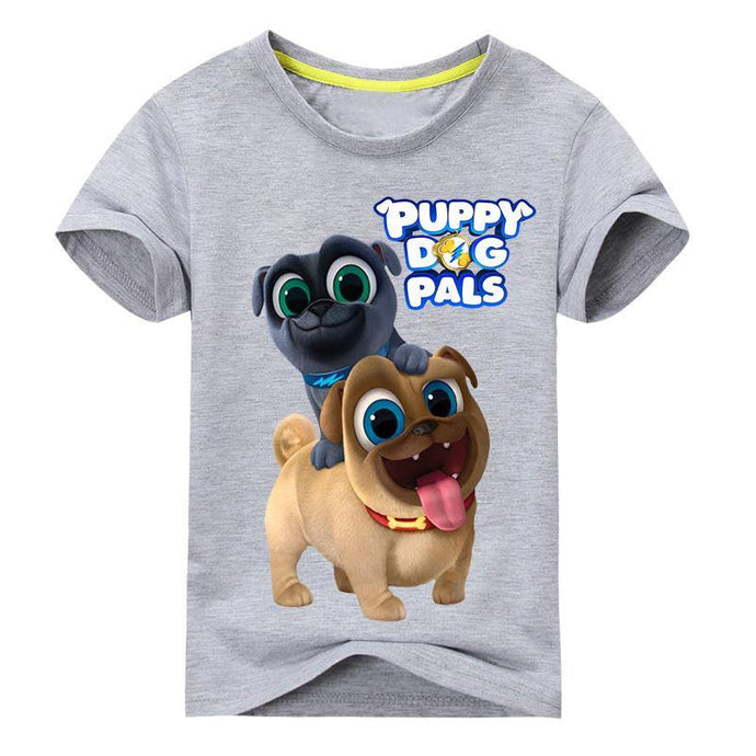Summer Cartoon Puppy Dog Pals Print Tee Tops For Boy Girls - Beccaskulture
