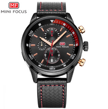 Load image into Gallery viewer, MF0017G  Watches Men Luxury Brand MINI FOCUS Quartz Fashion Leather Watch - Beccaskulture