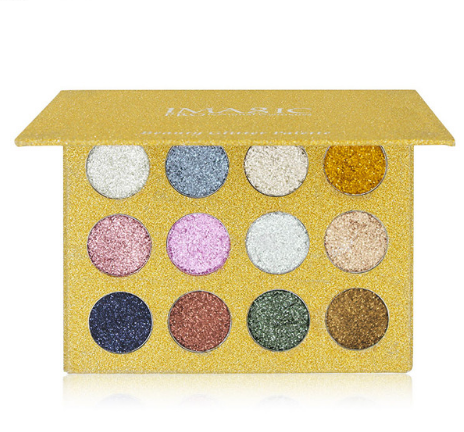 12 Color Glitter Injections Pressed Glitters Single Eyeshadow Diamond Rainbow Make Up - Beccaskulture