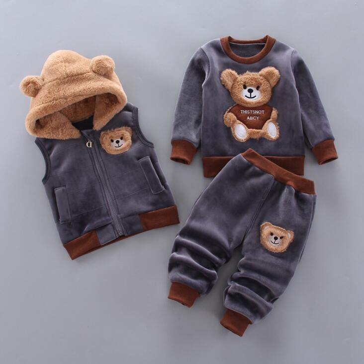 Newborn Baby Boys Girls Autumn Winter Warm Hoody Coat + Sweatshirt - Beccaskulture
