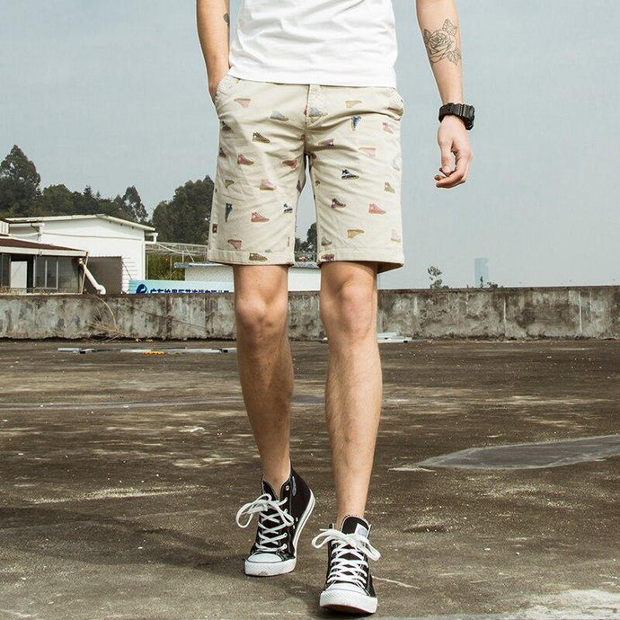 Men Fashion Casual Pattern Print Shorts - Beccaskulture