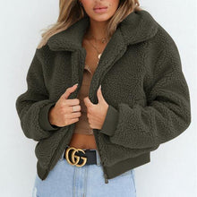 Load image into Gallery viewer, Women Autumn Winter Fluffy Teddy Jacket Coat - Beccaskulture