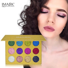 Load image into Gallery viewer, 12 Color Glitter Injections Pressed Glitters Single Eyeshadow Diamond Rainbow Make Up - Beccaskulture