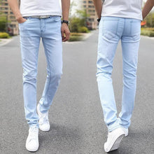 Load image into Gallery viewer, Denim Skinny Jeans Distressed Men Spring Autumn Clothing Good Quality - Beccaskulture