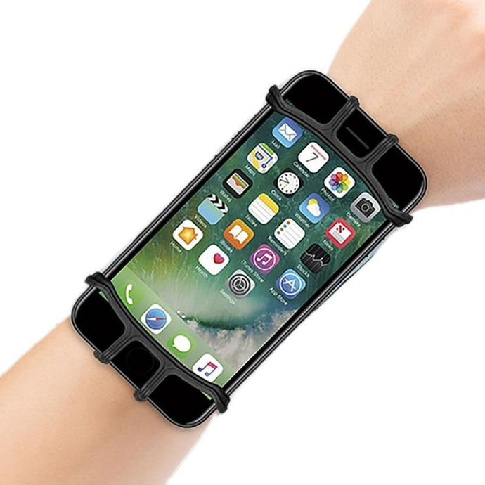 Wrist Phone Band Forearm Wristband Holder 180 Degree Rotatable - Beccaskulture