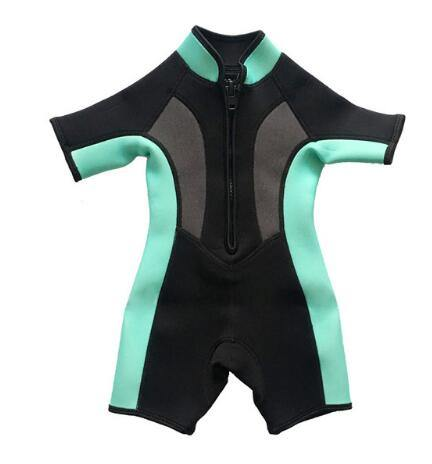 2mm Neoprene Short Sleeves Kids Wetsuits Diving Suits - Beccaskulture