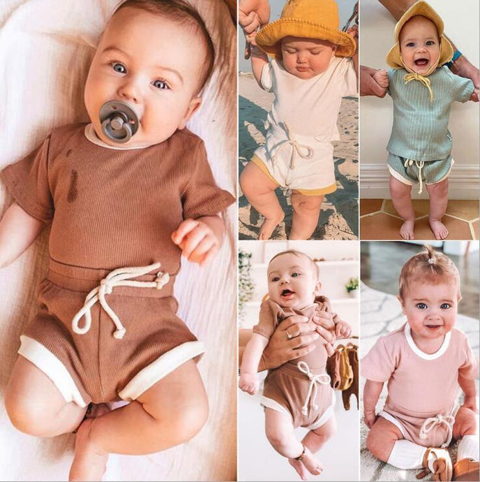 Toddler Baby Boys Girls Summer Clothing - Beccaskulture