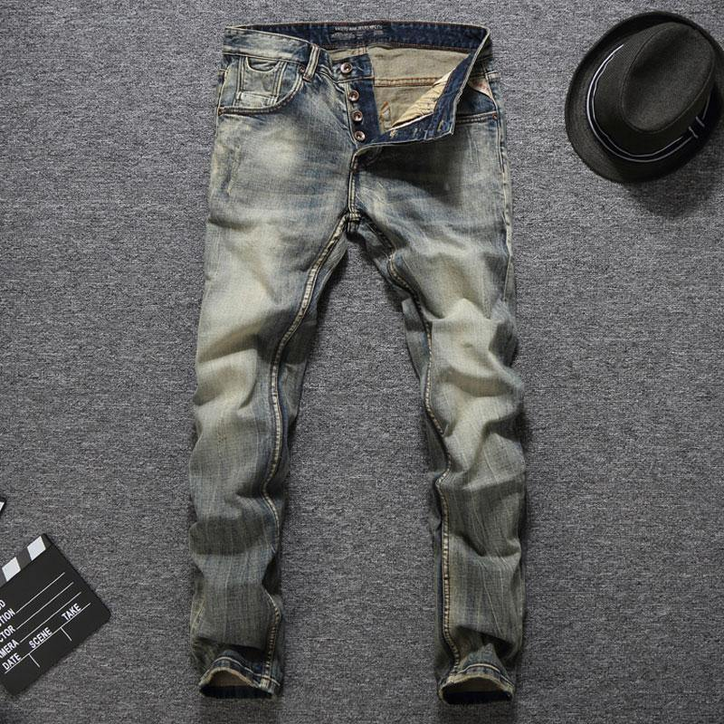 Italian Vintage Designer Men Jeans Good Quality Casual Pants - Beccaskulture