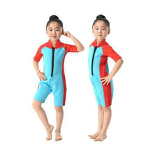 Load image into Gallery viewer, 2mm Neoprene Short Sleeves Kids Wetsuits Diving Suits - Beccaskulture