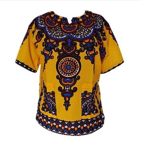 Dashiki New African Clothing Traditional Print Tops - Beccaskulture