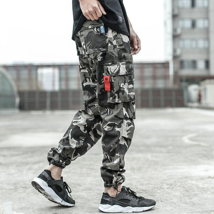 Men Jeans Casual Pants High Street Youth Style Jogger Pants - Beccaskulture