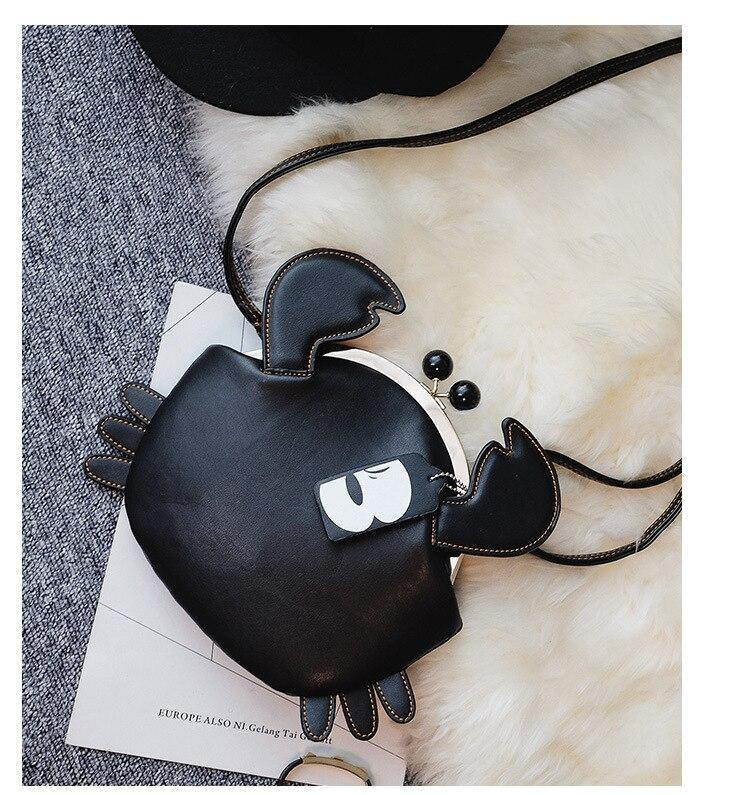 Crab Shaped Design Womens Handbags - Beccaskulture