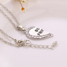 Load image into Gallery viewer, 2 Pcs BFF Necklace Women Crystal Heart Pendant Best Friend Letter Necklace - Beccaskulture