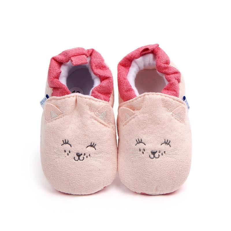 Cartoon Fox Baby Girls Winter Warm First Walkers Shoes - Beccaskulture