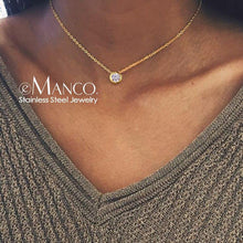 Load image into Gallery viewer, e-Manco Classic Stainless Steel Necklace for women - Beccaskulture