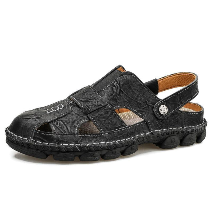 Genuine Leather Men Sandals Shoes - Beccaskulture