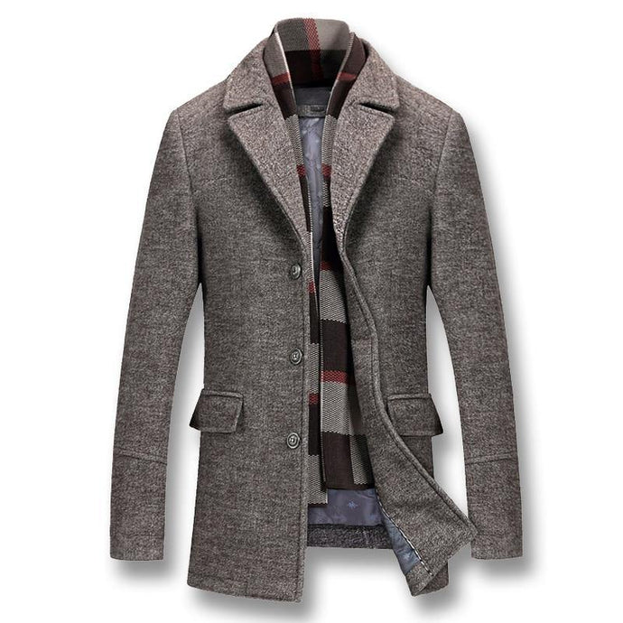 Men Winter Thick Cotton Wool Jackets Coats - Beccaskulture