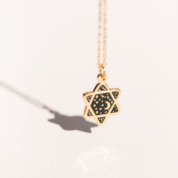 Mini Cosmic Magen David pendant