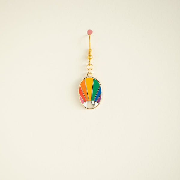 SINGLE Spectrum Eye Earring - Highly Saturated Small