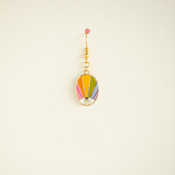 SINGLE Spectrum Eye Earring - Pastel Magic Small