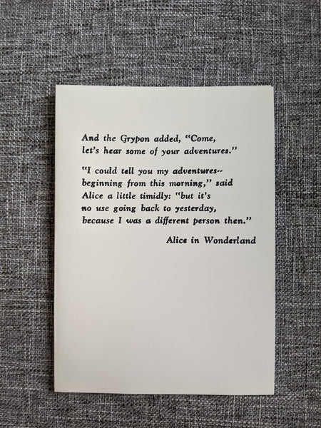 Yesterday's Alice | Letterpress Card