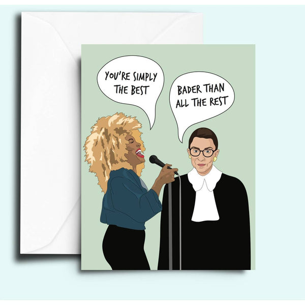 Tina Turner and RBG Card