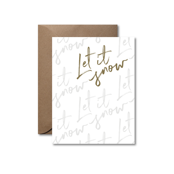 Let it snow | Letterpress holiday card