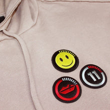 Load image into Gallery viewer, Happy face beige hoodie