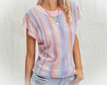 Load image into Gallery viewer, kiss by cris knit multicolor women's top