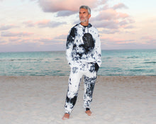 Load image into Gallery viewer, Men tie dye graphic hoodie and sweatpants set