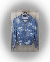 Load image into Gallery viewer, Tie dye wash denim jacket