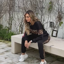 Load and play video in Gallery viewer, Leopard line pullover and jogger set (Pre-order at contact@kissbycris.com)