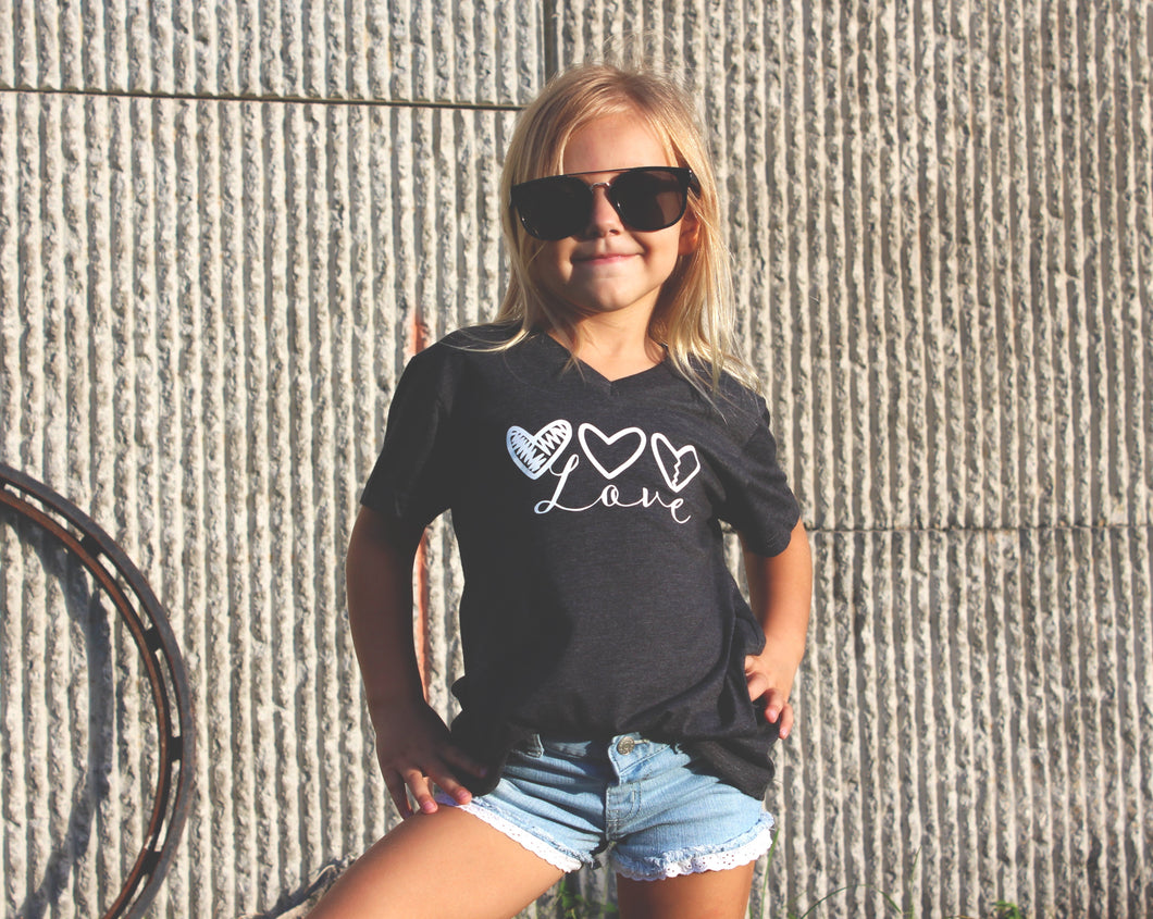 Girls love V-neck tee