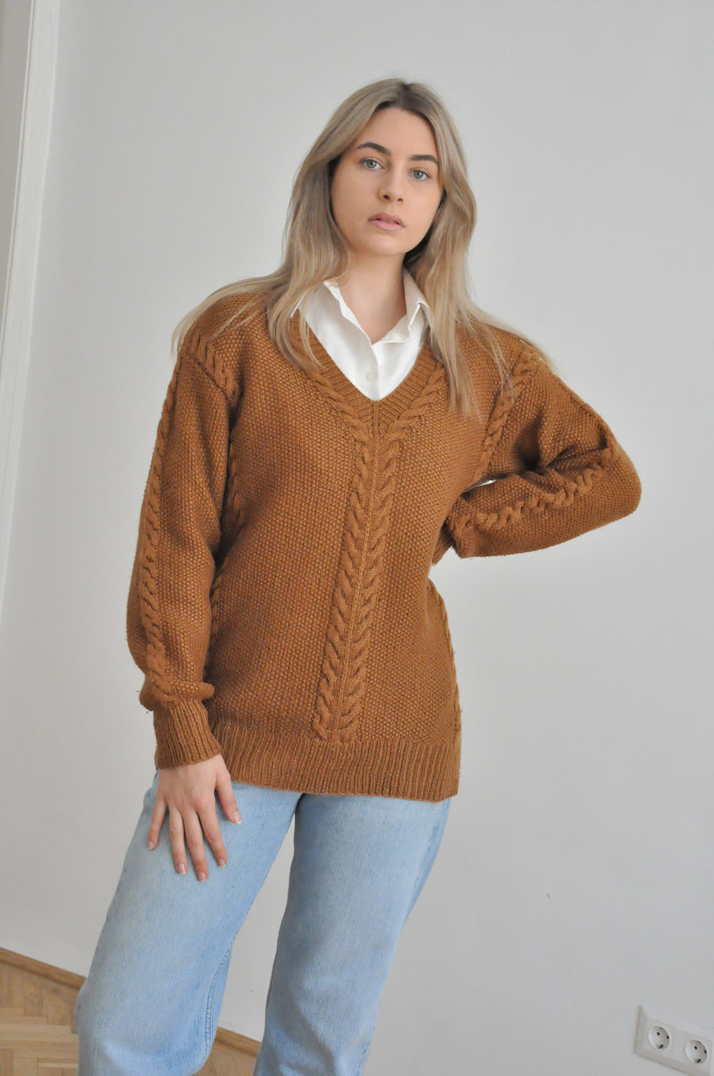 Wool blend pullover / M-L