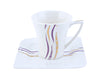 Bone China/Porc. 6/6 Cup & Saucer 1X8