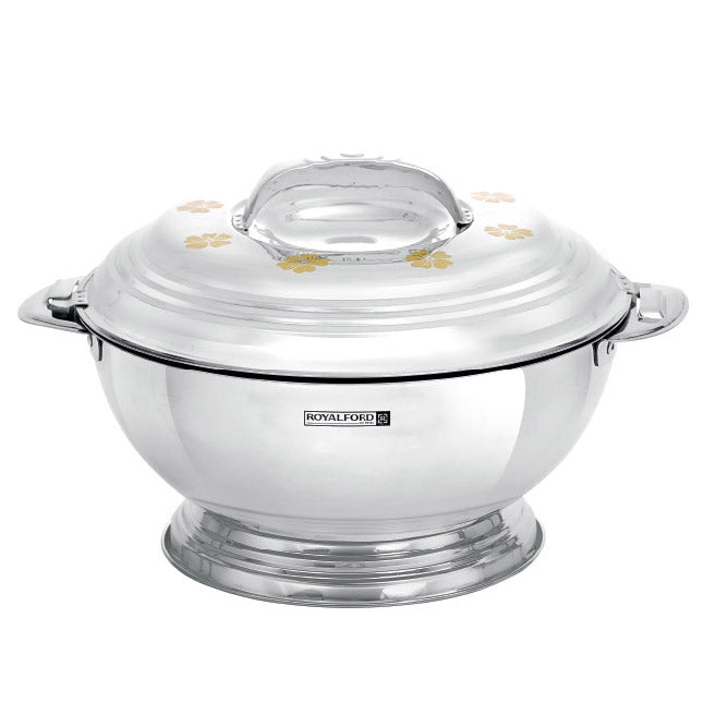 Royalford RF7456 Elite Golden Stainless Steel Hot Pot, 2.5L