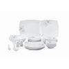 Royalford RF6962 Opal Hard Square Dinner Set, 57pieces