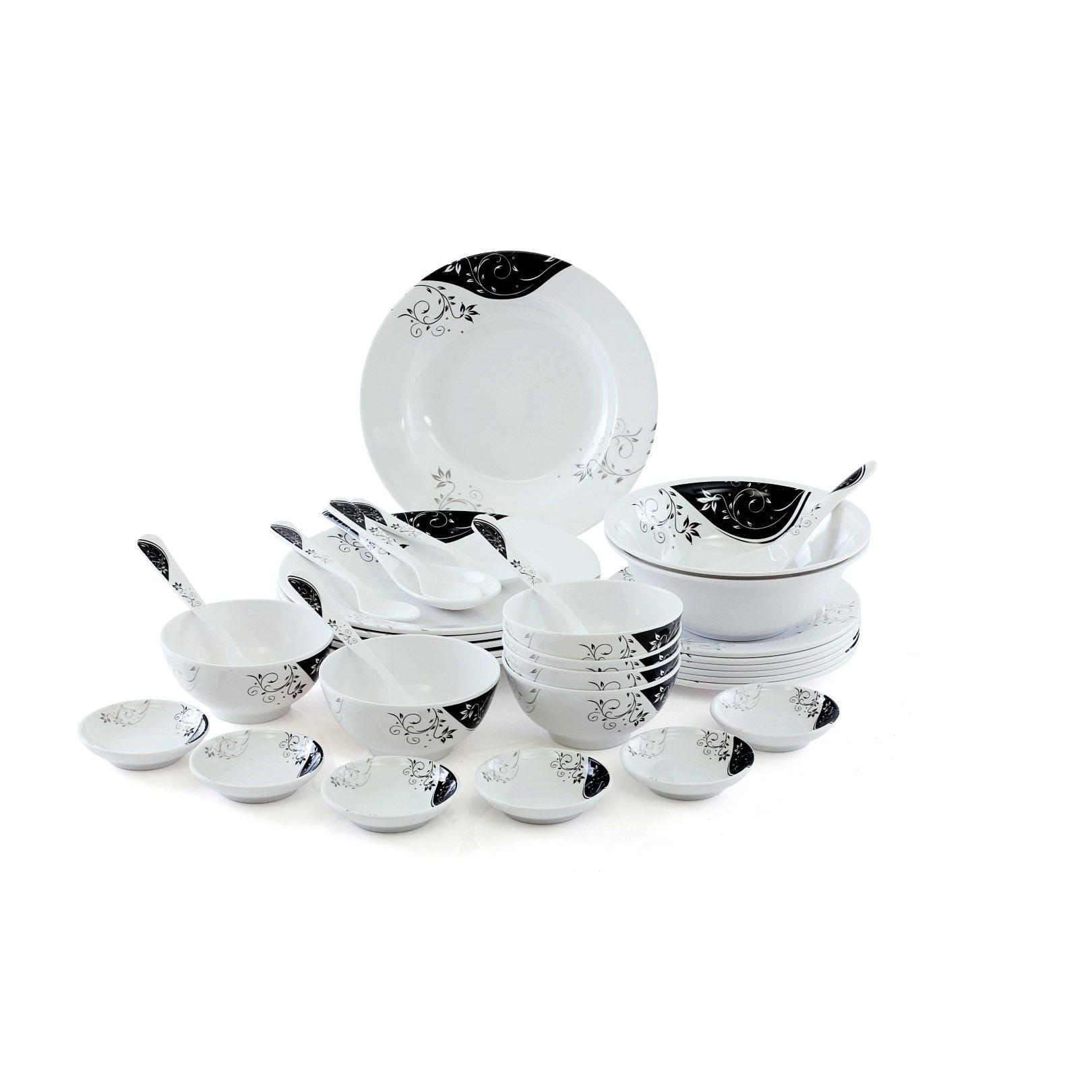 Royalford RF6972 Melamine Ware Dinner Set, 35 Pcs