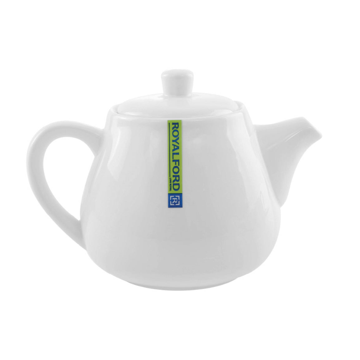 Royalford RF8008 Porcelain Magnesia Big Tea Pot with Lid | Ideal for Daily Use – Minimalist Design, Dishwasher, Microwave and Freezer Safe - Smooth Surface, Comfortable Grip and Lightweight