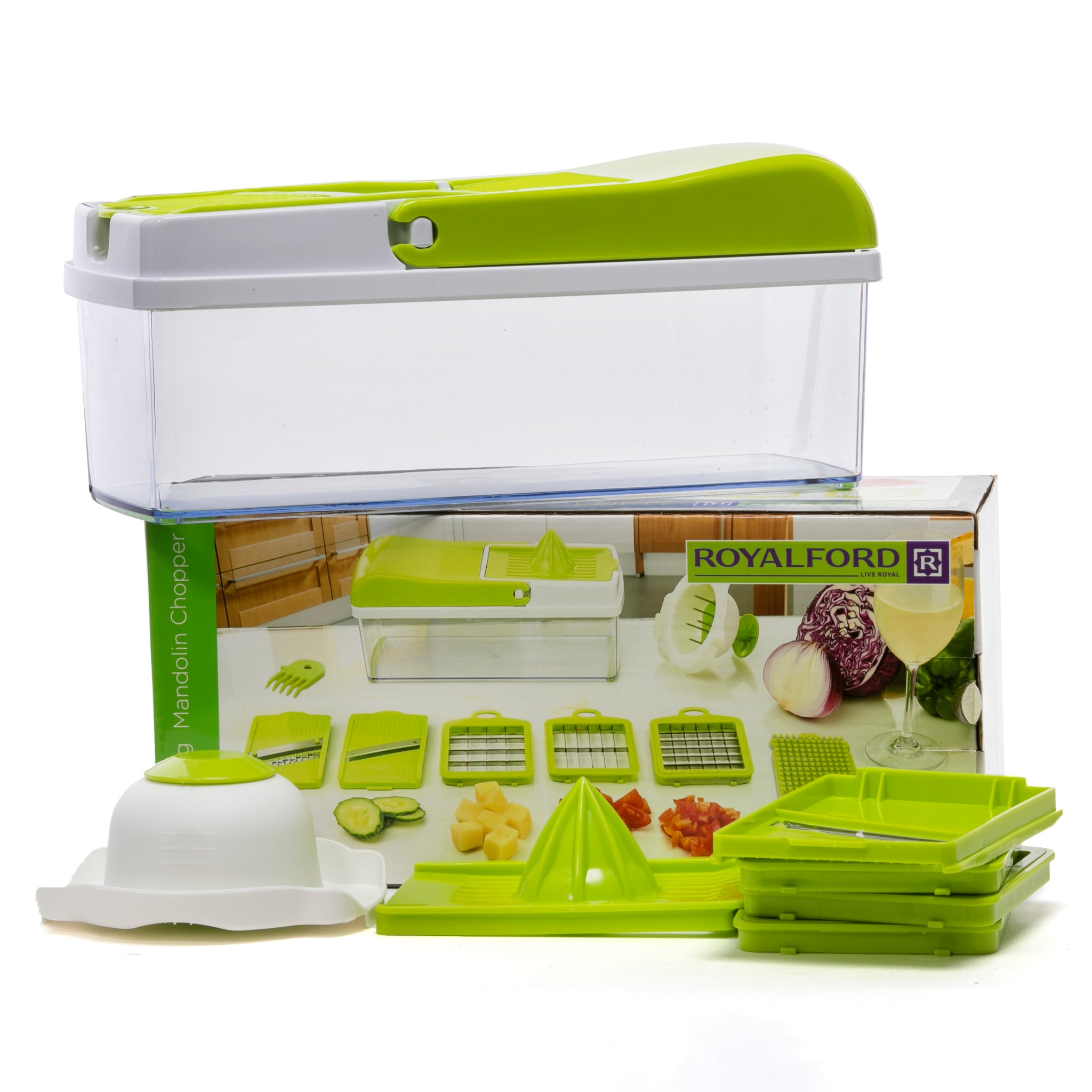 Royalford RF7767 3 in 1 Magic Chopper, Multi-Purpose Kitchen Gadget, Instant Food Chopper-Cutter-Peelers-Slicer