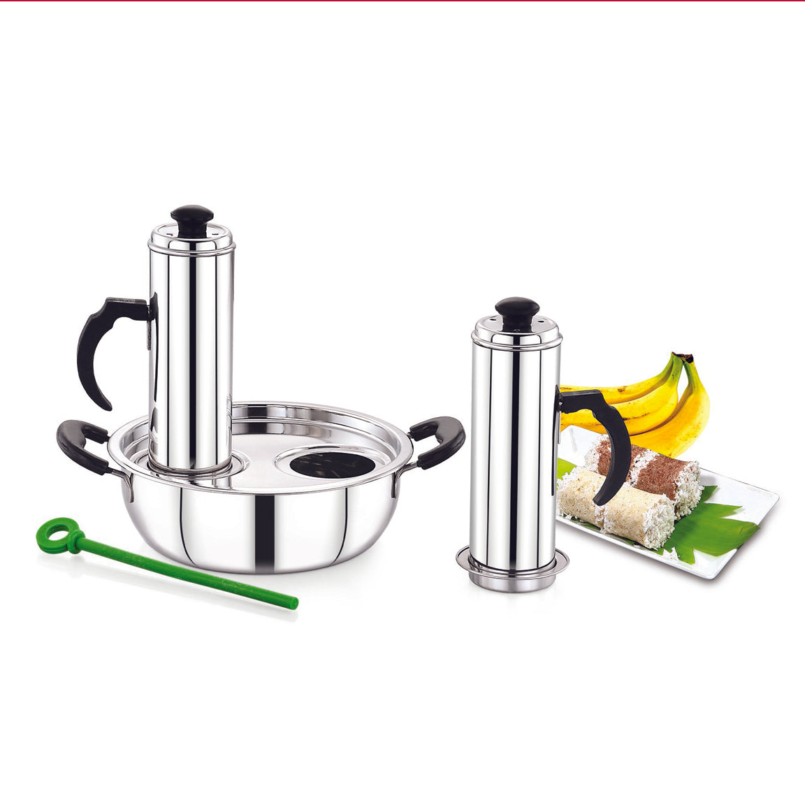Royalford RF8503 Stainless Steel 3-in-1 Modern Puttu Solution